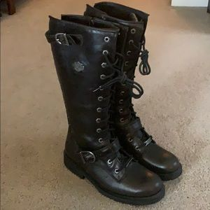 Women's Harley Davidson tall motorcycle boots